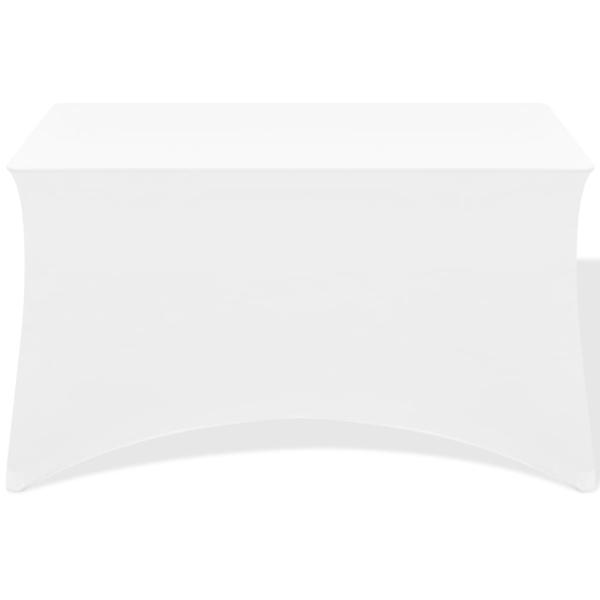 Housses Table 2 Pièces 5x74 Extensibles Blanc Pour Cm Vidaxl 120x60 hdCxtsQr