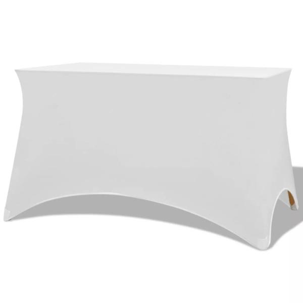 Pour Vidaxl Extensibles 120x60 Table Housses Pièces Cm 5x74 Blanc 2 0N8OnwXkZP