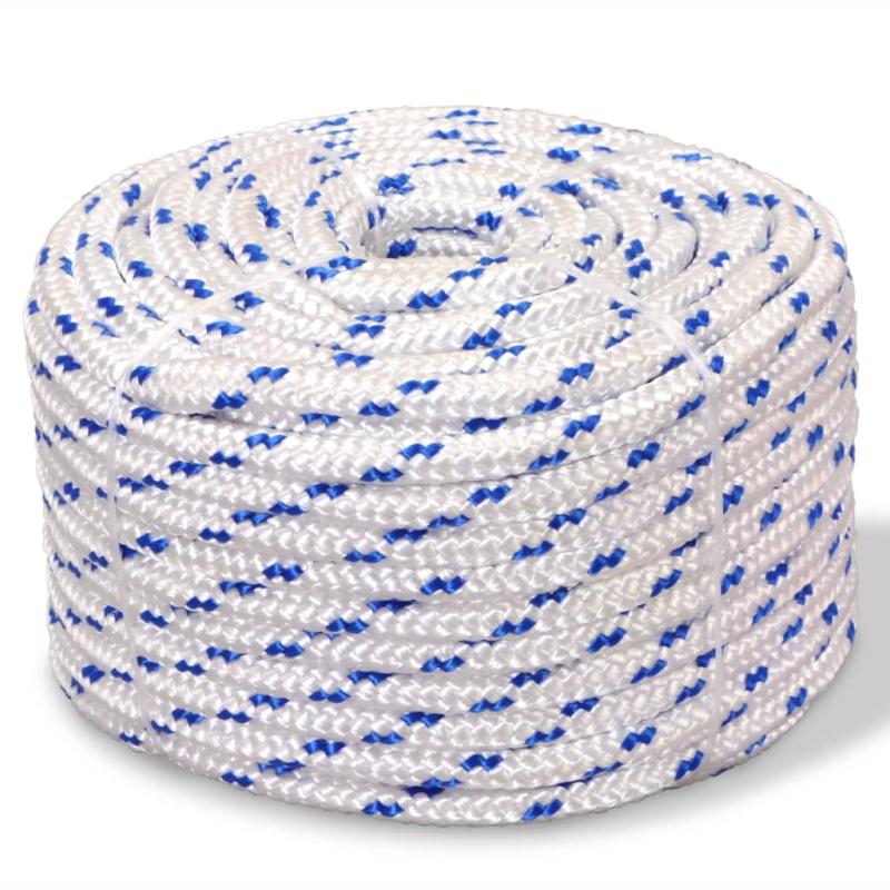 vidaxl corde de bateau polypropyl ne 8 mm 100 m blanc quincaillerie creavea. Black Bedroom Furniture Sets. Home Design Ideas