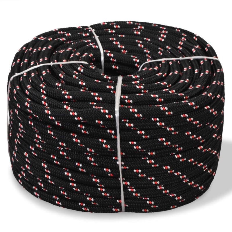 vidaxl corde de bateau polypropyl ne 14 mm 50 m noir quincaillerie creavea. Black Bedroom Furniture Sets. Home Design Ideas