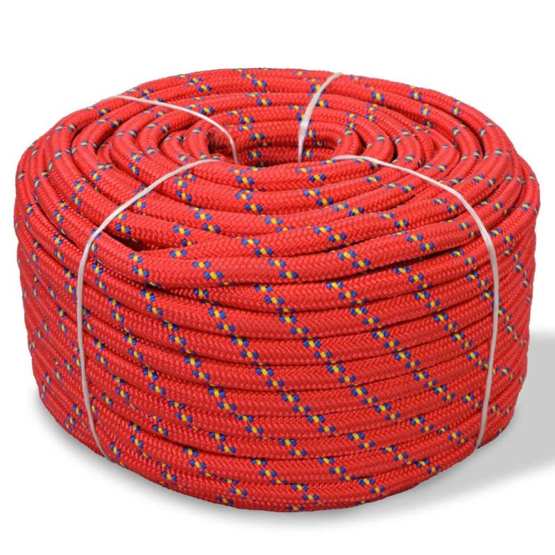 vidaxl corde de bateau polypropyl ne 14 mm 50 m rouge quincaillerie creavea. Black Bedroom Furniture Sets. Home Design Ideas