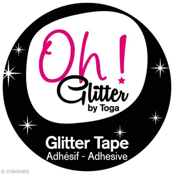 Glitter Tape - Oh Glitter by Toga - Rose framboise x 2 m - Photo n°2