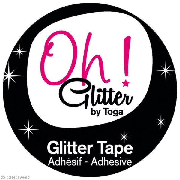 Glitter Tape - Oh Glitter by Toga - noir x 2 m - Photo n°2