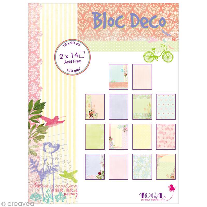 papier scrap rendez vous bloc deco 15 x 20 cm 28 pcs. Black Bedroom Furniture Sets. Home Design Ideas