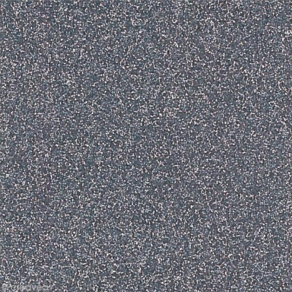 Papier adhésif pailleté anthracite - Oh Glitter by Toga - 30,5 x 30,5 cm - Photo n°1