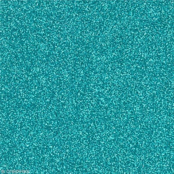 Papier adhésif pailleté bleu turquoise - Oh Glitter by Toga - 30,5 x 30,5 cm - Photo n°1