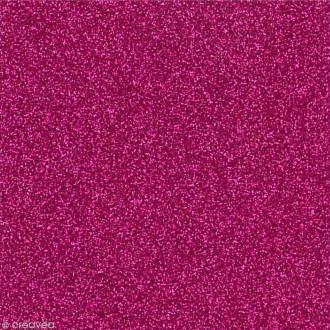 Papier adhésif pailleté Rose framboise - Oh Glitter by Toga - 30,5 x 30,5 cm