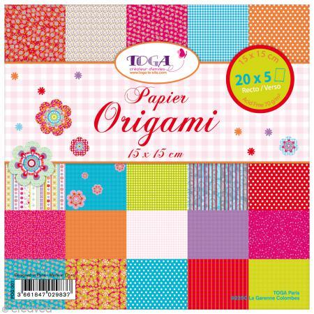 Papier origami Bohème - 15 x 15 cm - 100 pcs - Toga
