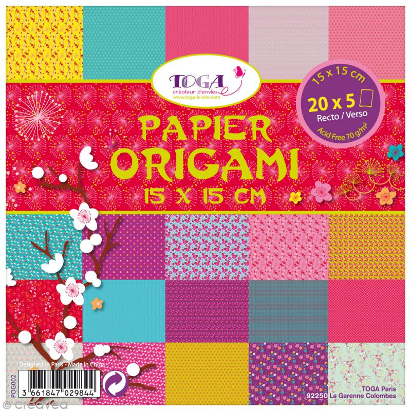 papier origami jardin japonais 15 x 15 cm 100 pcs papier origami creavea. Black Bedroom Furniture Sets. Home Design Ideas