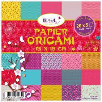 Papier origami Jardin Japonais - 15 x 15 cm - 100 pcs