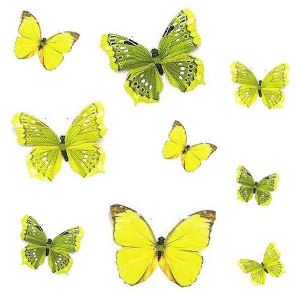 Papillon En Papier Avec Clip 11Cm (Vert) - Photo n°1