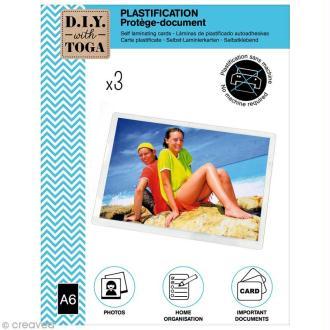 Pochette à plastifier A6 DIY with Toga - 3 pcs