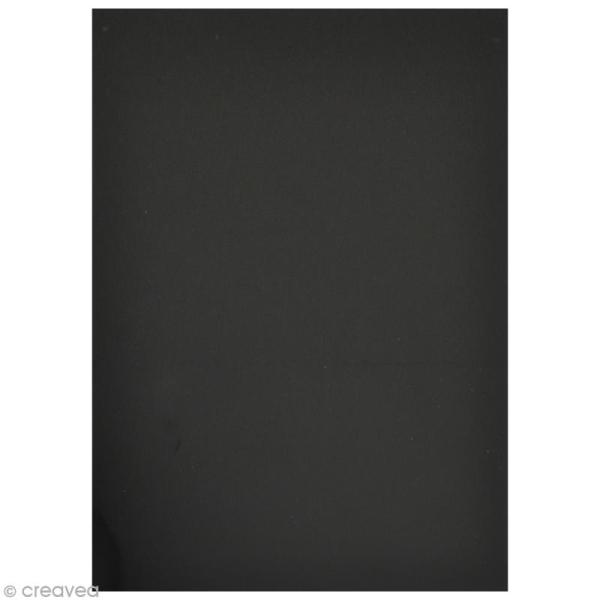 Flex thermocollant plastifié A5 - Noir - Photo n°2