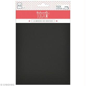 Flex thermocollant plastifié A5 - Noir
