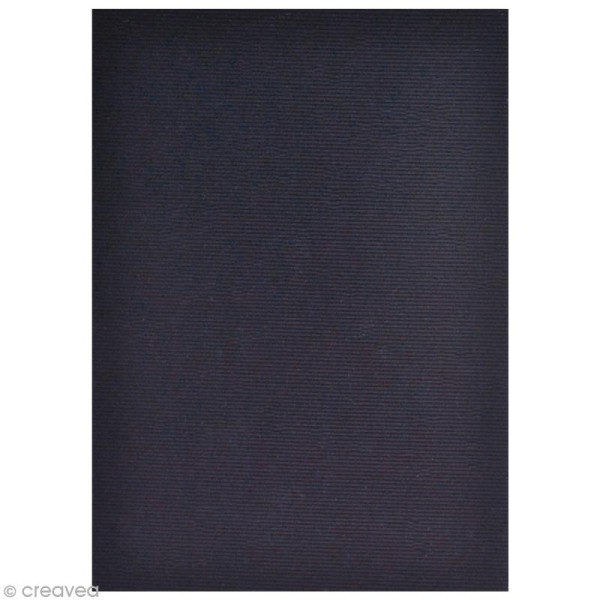 Flex thermocollant velours A5 - Bleu noir - Photo n°2