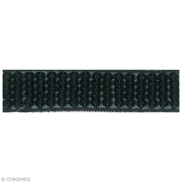 Galon paillettes thermocollant 2,4 cm - Noir - 1,30 m - Photo n°2