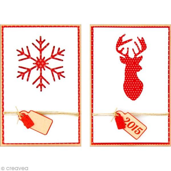 Set carterie - Noël scandinave - Kit 10 cartes de voeux - Photo n°2