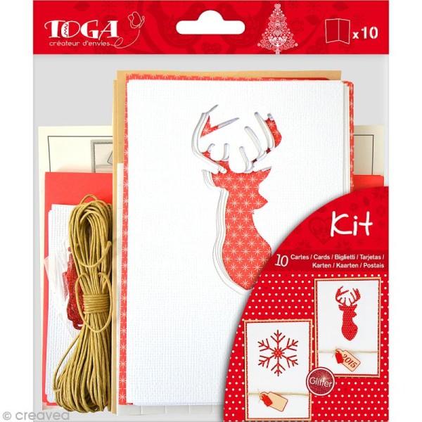 Set carterie - Noël scandinave - Kit 10 cartes de voeux - Photo n°1