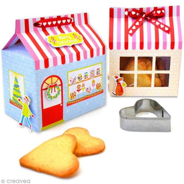 Kit boîtes de sablé de Noël - 8 boîtes avec décorations et accessoires - Photo n°2