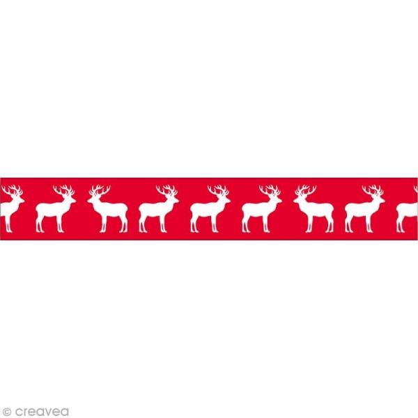 Masking Tape Noël - Renne scandinave - 10 mètres - Photo n°1