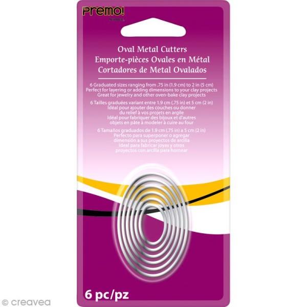 Emporte-pièces Ovale en métal - 6 pcs - Photo n°1