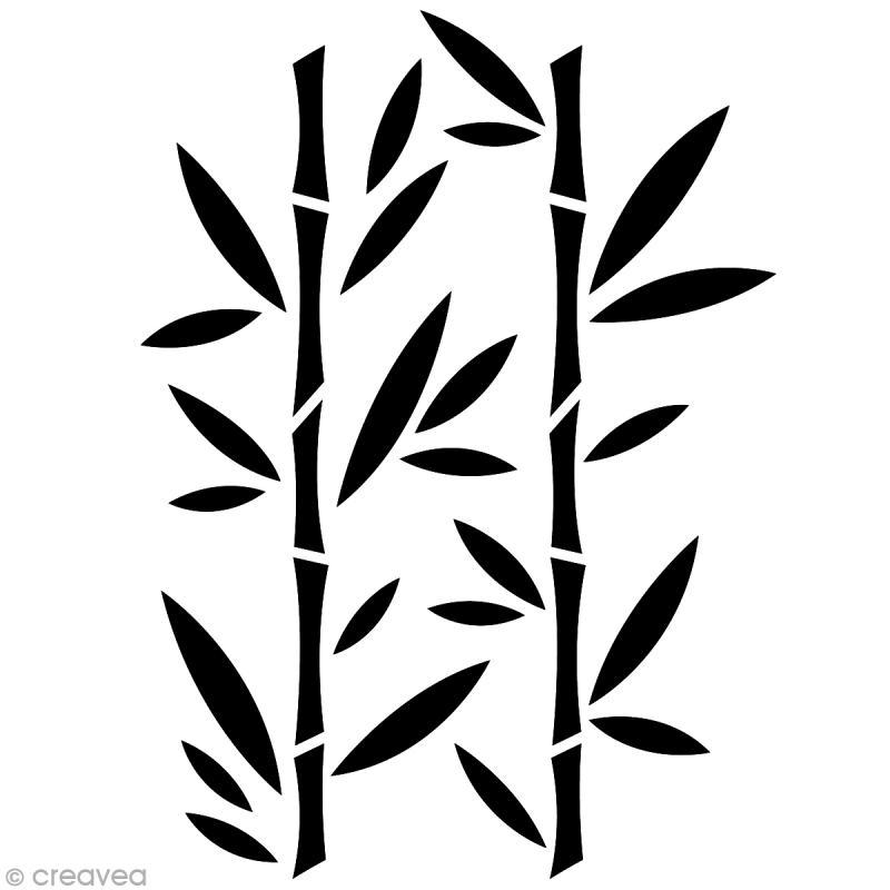 pochoir home deco bambou a4 21 x 29 7 cm pochoir mural creavea. Black Bedroom Furniture Sets. Home Design Ideas