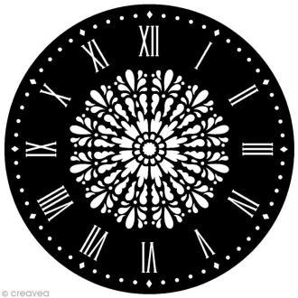 Pochoir Home Deco rond - Horloge Etoile - 28 cm