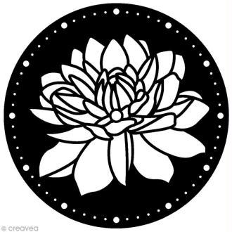 Pochoir Home Deco rond - Horloge Lotus - 28 cm