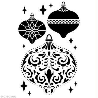 Pochoir Home Deco Boules de Noël - 10 x 15 cm