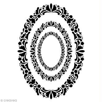 Pochoir Home Deco Cadre ovale - A3 (29,7 x 42 cm)