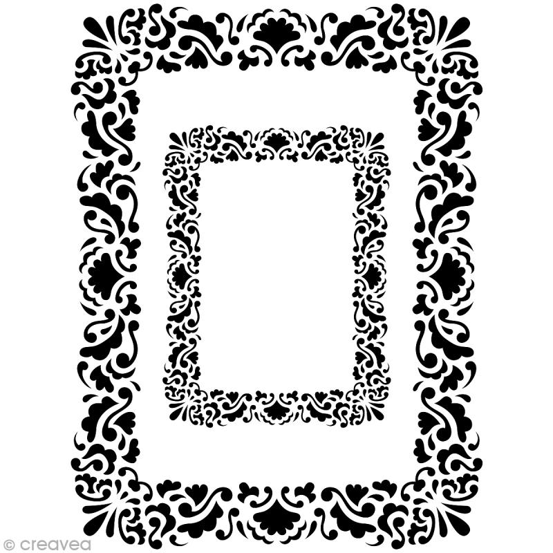 Pochoir home deco cadre rectangulaire a3 29 7 x 42 cm pochoir mural creavea - Cadre photo a3 ...