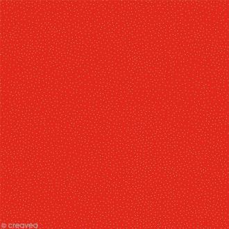 Papier Artepatch Noël - Pois blancs sur fond rouge - 40 x 50 cm