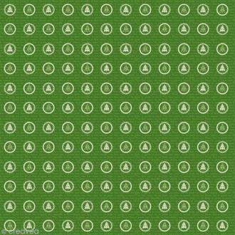 Papier Artepatch Noël - Sapins sur fond vert - 40 x 50 cm