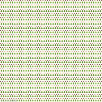 Papier Artepatch Noël - Sapins et coeurs - 40 x 50 cm