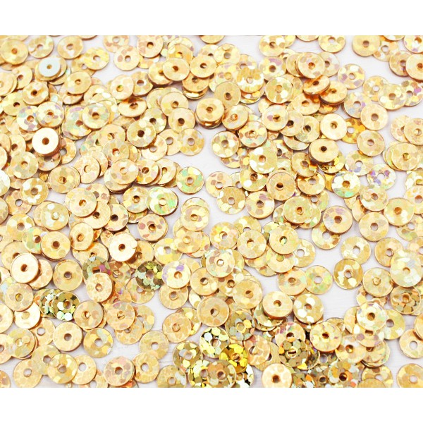 20g Metallic Gold Glitter Sparkle Plate Ronde Paillettes Confettis, Paillettes à Coudre Sur la Broch - Photo n°1