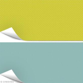 Papier Artepatch - Vert et bleu - 2 feuilles de 40 x 50 cm