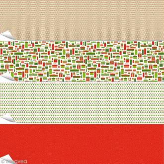Papier Artepatch - Noël classique - 4 feuilles de 40 x 50 cm