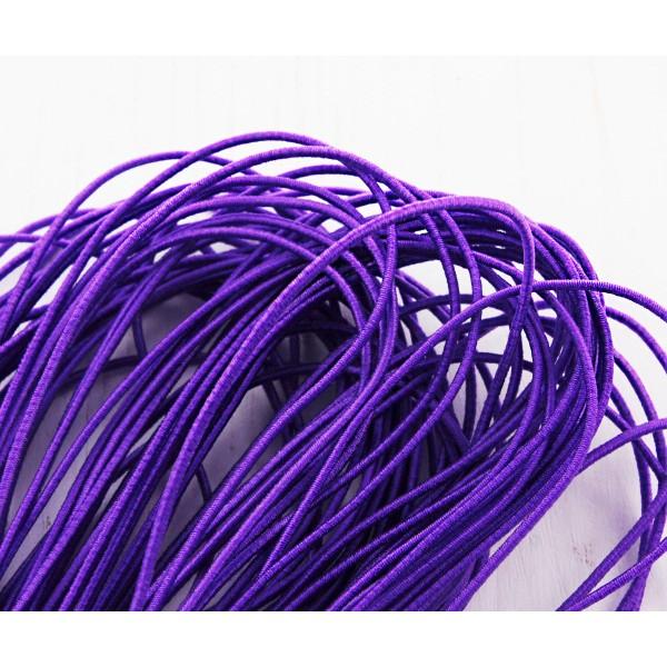 6.4 m 21ft 7yrd Violet Ronde en Nylon Élastique Stretch Cordon de Perles de Corde de Nouage de la Ch - Photo n°2
