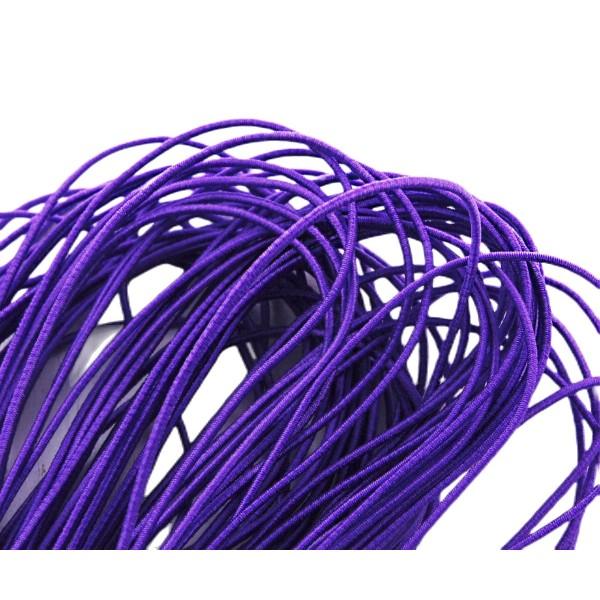 6.4 m 21ft 7yrd Violet Ronde en Nylon Élastique Stretch Cordon de Perles de Corde de Nouage de la Ch - Photo n°1