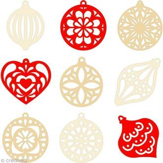 Set de mini silhouettes en feutrine - Noël - 45 pcs