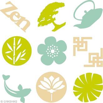 Set de mini silhouettes en feutrine - Zen (pure) - 45 pcs