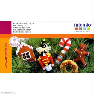 Kit de feutrine à coudre - Décorations de sapin de Noël
