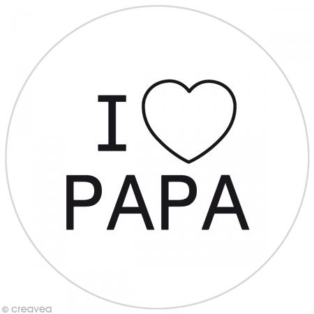 Pastille silicone i love papa funny cuisine pour tampon biscuits 7 5 cm tampon - Tampon cuisine personnalise ...