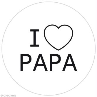Pastille silicone - I love papa - Funny cuisine pour tampon à biscuits - 7,5 cm