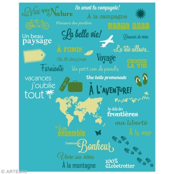 Tampon clear Mots du voyage - Planche 14 x 18 cm - 37 tampons transparents - Photo n°2