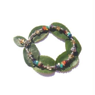 Bracelet 7 chakras chips Gemme, Bouddha Hématite argentée 18 à 19 CM (Cit)