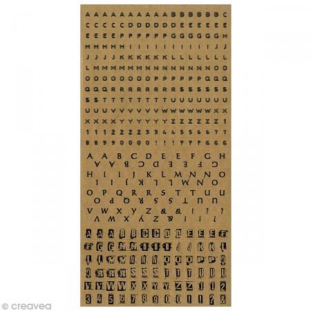 Stickers Alphabet - Kraft x 375 pcs - Photo n°1