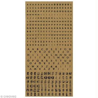 Stickers Alphabet - Kraft x 375 pcs