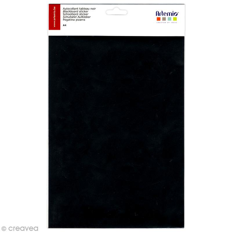 feuille adh sive tableau noir a4 stickers fantaisie. Black Bedroom Furniture Sets. Home Design Ideas