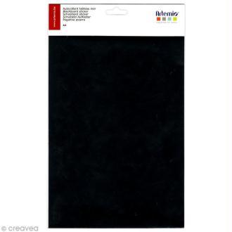 Feuille adhésive tableau noir A4